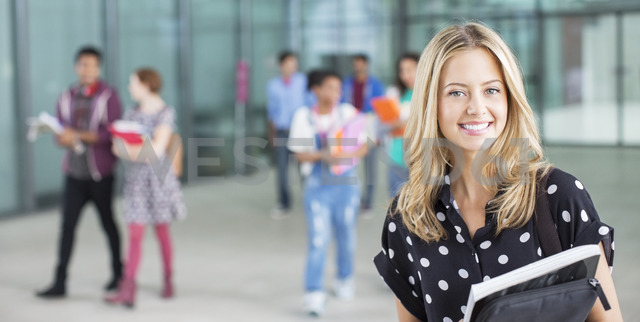 Smiling university student - CAIF08204