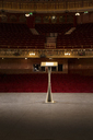 Podium on stage in empty theater - CAIF08228