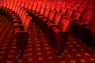 Seats in empty theater auditorium - CAIF08231