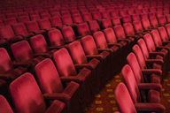 Empty seats in theater auditorium - CAIF08246