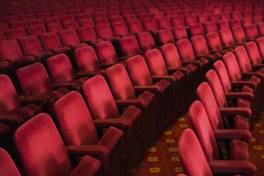 Empty seats in theater auditorium - CAIF08246