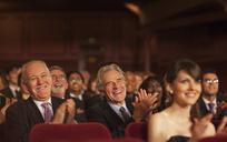 Theater audience laughing and clapping - CAIF08273