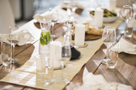 Set table at dinner party - CAIF08492