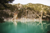 Scenic view of lake against mountain - CAVF04401