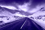 United Kingdom, Scotland, Glencoe, empty road - SMAF00969