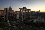 View of roman forum during sunset - CAVF05045