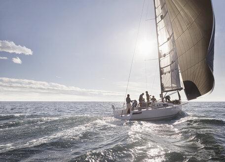 Sailboat on sunny ocean - CAIF10169