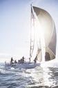 Sailboat on sunny ocean - CAIF10172