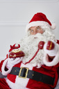 Portrait of Santa claus with phone - ABIF00118