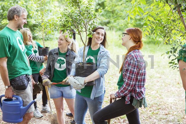 Environmentalist volunteers planting new trees - CAIF11998
