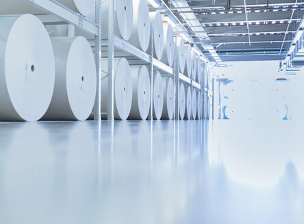 Large spools of paper in printing plant - CAIF12967
