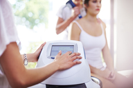 Physical therapist programming ultrasound machine - CAIF14344