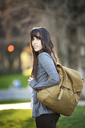 Portrait of woman with backpack - CAVF06563