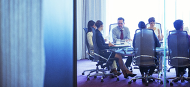 Business people having meeting in conference room - CAIF15452