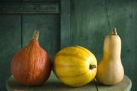 Hokkaido pumpkin, spaghetti squash and butternut squash - ASF06160