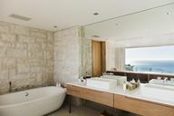 Modern bathroom with ocean view - CAIF17113