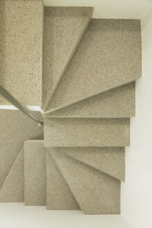 Overhead view of modern spiral staircase - CAIF17122