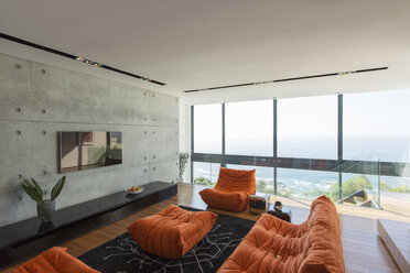 Sofas and ottoman in modern living room - CAIF17155