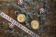 Eggnog in glasses, christmas decoration - LVF06783