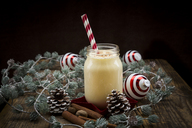 Eggnog in glass, christmas decoration - LVF06786