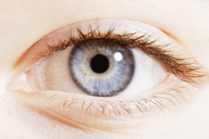 Extreme close up of blue eye - CAIF17704