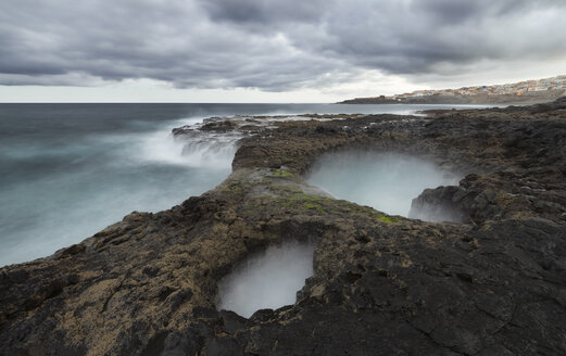 Spain, Canary Islands, Gran Canaria, La Garita, El Bufadero geological formation - STCF00433