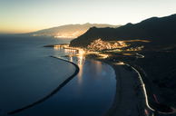 Spain, Canary Islands, Tenerife, San Andres beach at night - STCF00448