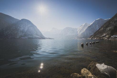 Austria, Salzkammergut, Lake Hallstatt with Dachstein and Sarstein - STCF00469