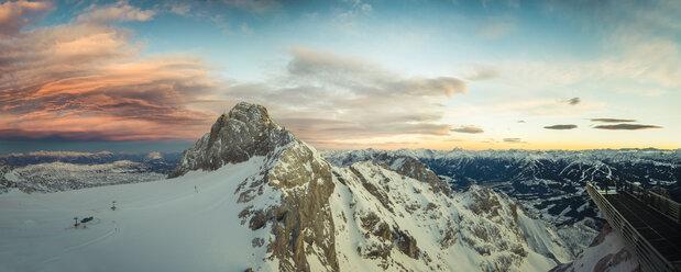 Austria, Salzkammergut, Koppenkarstein at sunset - STCF00478
