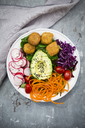 Plate of Falafel and salad - LVF06788