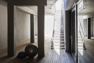 Stone staircase in modern house - CAIF19835