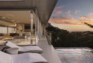 Sunset sky outside modern house - CAIF19964