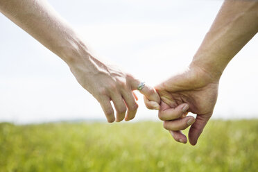 Cropped image of couple holding hands - CAVF10743