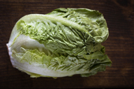 Overhead view of lettuce on table - CAVF11589
