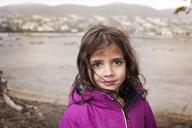 Portrait of girl in hood jacket - CAVF11685