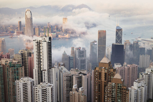 High angle view of cityscape by Victoria Harbour - CAVF14168