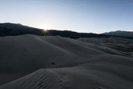 Sand dunes against clear sky - CAVF15143