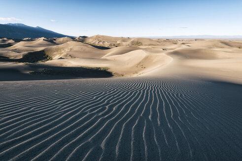 Natural pattern on desert against sky - CAVF15146