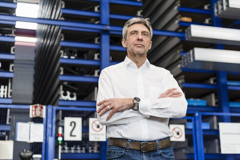 Manager standing in warehouse - DIGF03476