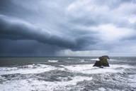 Scenic view of stormy clouds over sea - CAVF17033
