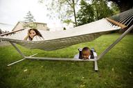 Portrait of kids in lawn - CAVF17234