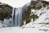 Idyllic view of Skogafoss Waterfall during winter - CAVF18004