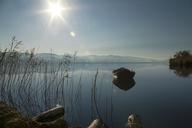 Boat in lake against sky - CAVF18625