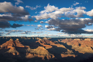 Scenic view of Grand Canyon National Park against cloudy sky - CAVF24951
