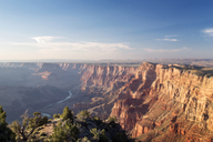 Scenic view of Grand Canyon and Colorado River against sky - CAVF25164
