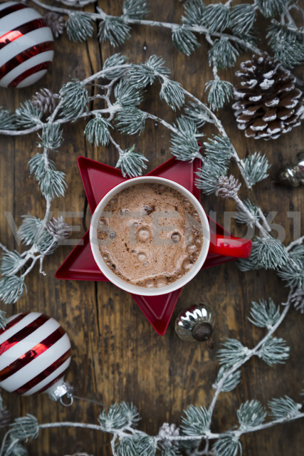 Cup of Hot Chocolate and Christmas decoration - LVF06821