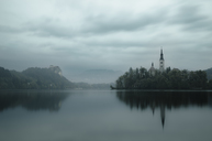 Slovenia, Bled, Lake Bled, Church on island - STCF00496