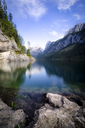 Austria, salzkammergut, Gosau, Lake Gosausee, Dachstein and Gosaukamm in the background - STCF00526
