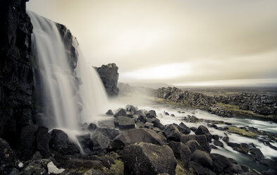 Iceland, Thingvellir National Park, Oexarafoss waterfall - STCF00544