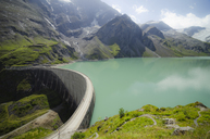 Austria, Kaprun, Mooserboden dam with Moosersperre wall - STCF00568